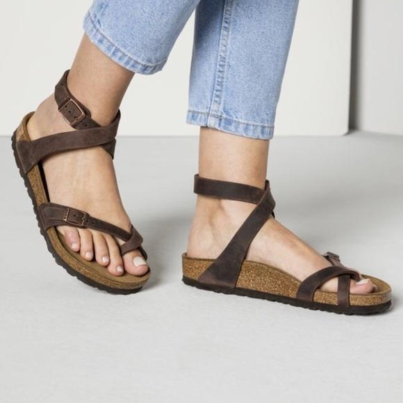 e24678051de3 Birkenstock Shoes - Birkenstock Yara Oiled Leather Habana Strap Sandal